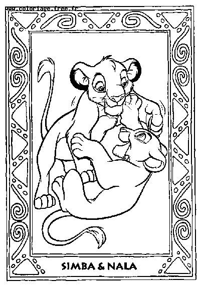 Coloring Pages © The Lion King